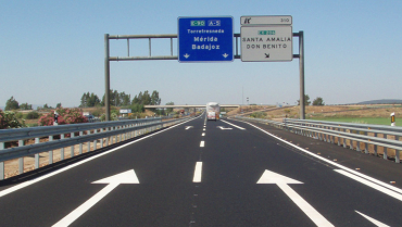 CONSERVACIÓN DEL FIRME EN AUTOVÍA A-5, MIAJADAS - TORRESFRENEDA (EXTREMADURA)